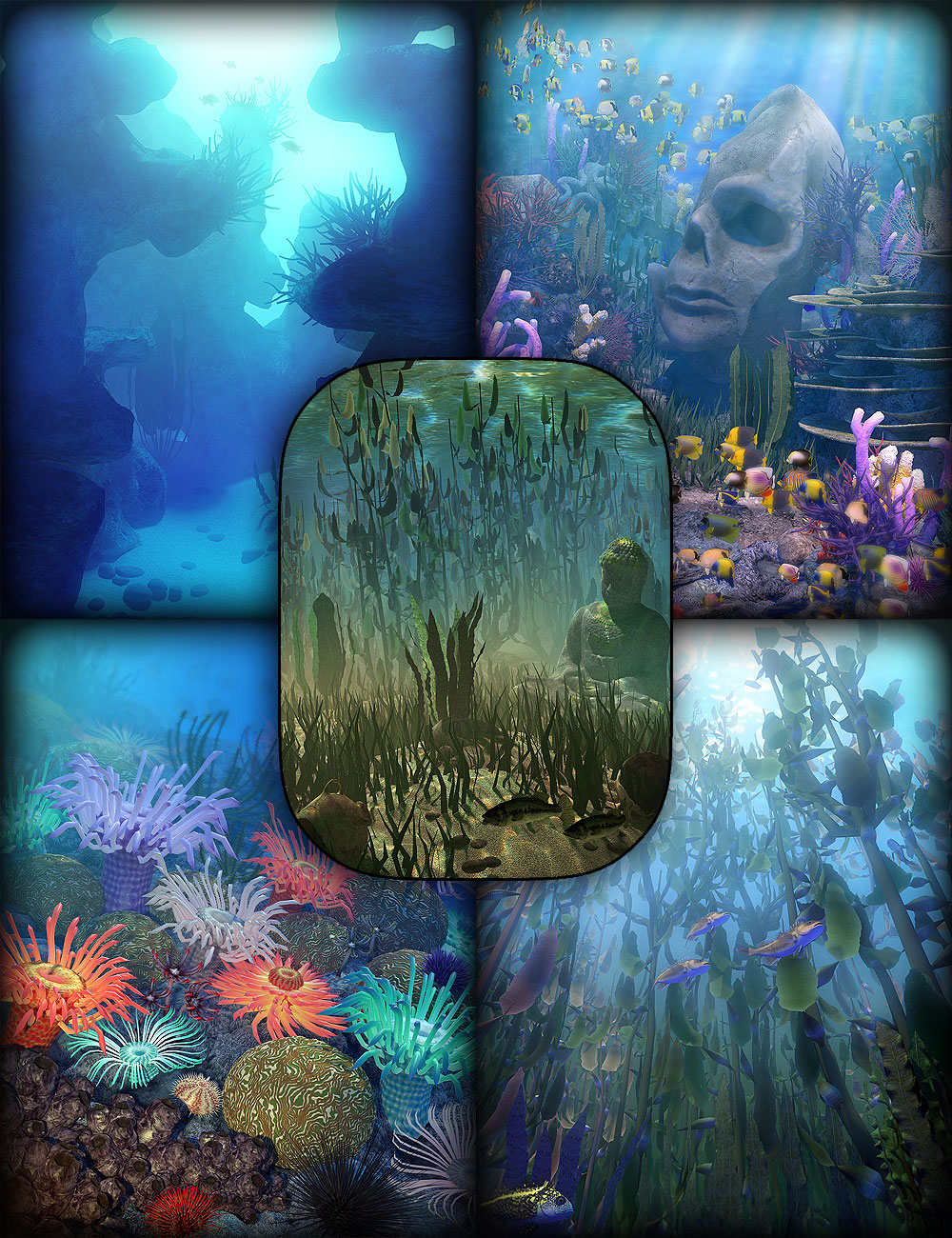 Gardens of Poseidon - Super Bundle by: Orestes Graphics, 3D Models by Daz 3D