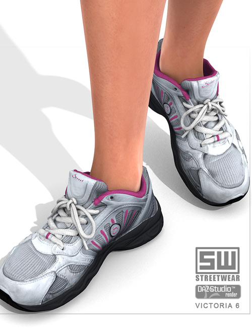 StreetWear : Sneakers For V6 by: StonemasonStreetWear, 3D Models by Daz 3D