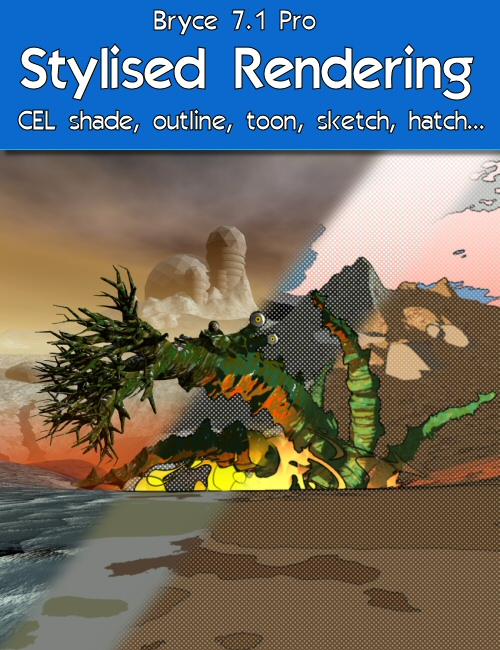 Bryce 7.1 Pro - Stylised Rendering by: David BrinnenHoro, 3D Models by Daz 3D