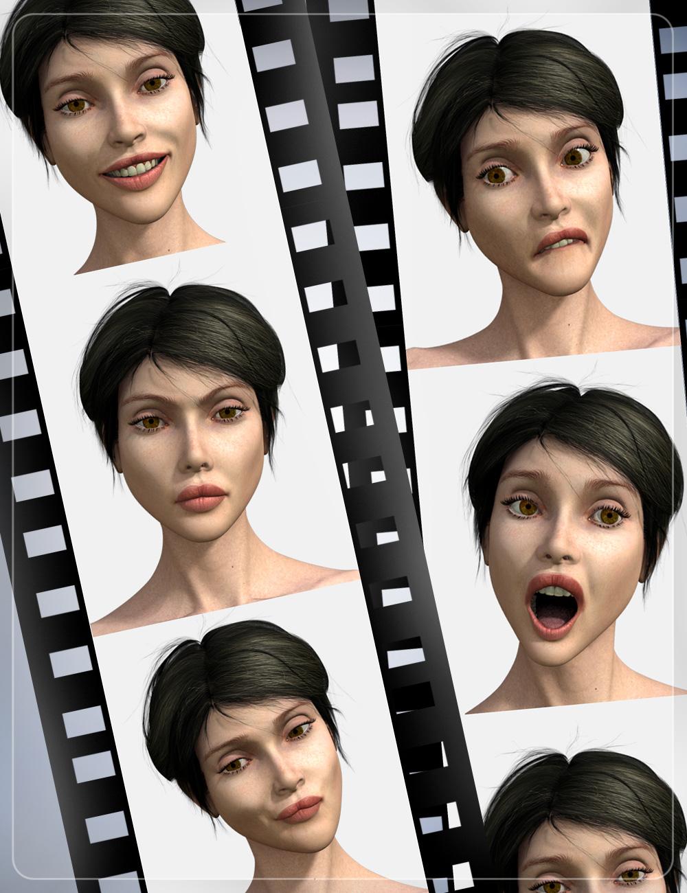 220 Emotions for Genesis by: smayAlFan, 3D Models by Daz 3D
