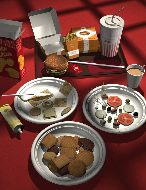 Everyday Snacks by: maclean, 3D Models by Daz 3D