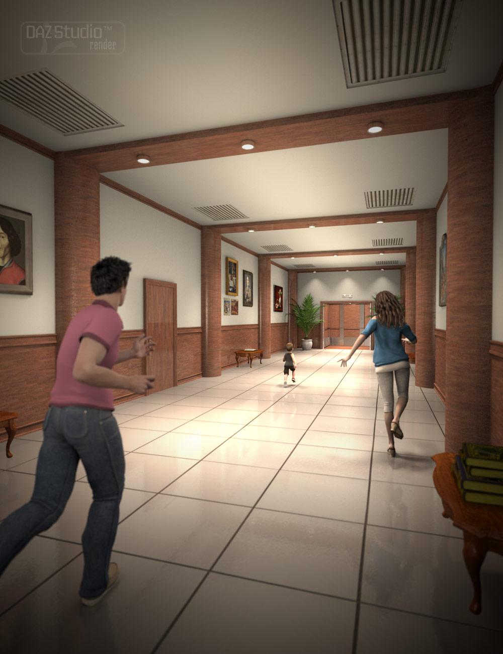 Elevator Hallway by: , 3D Models by Daz 3D