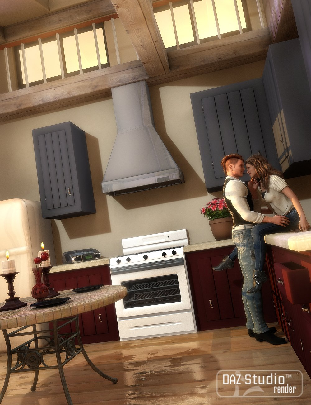 Country Kitchen by: , 3D Models by Daz 3D