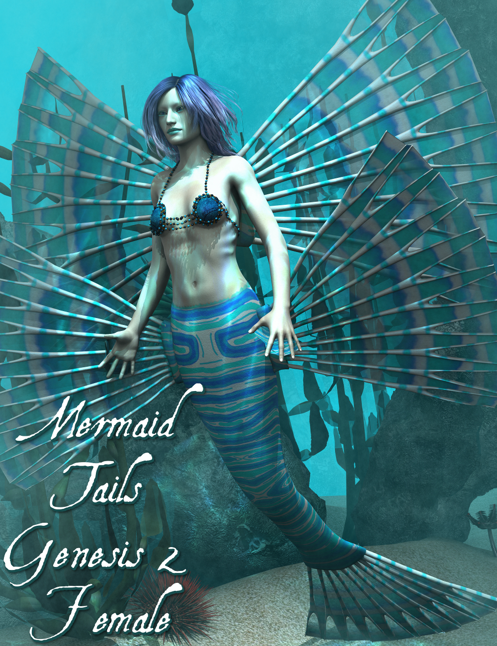 Mermaid Tails Expansion Genesis 2 Female(s) by: SickleyieldFuseling, 3D Models by Daz 3D