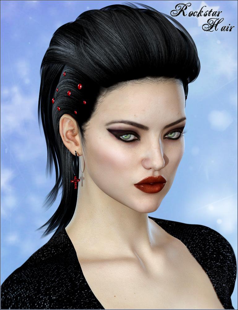 Rockstar Hair by: Valea, 3D Models by Daz 3D