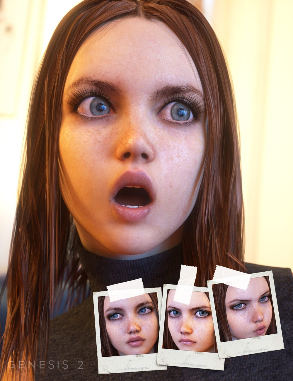 Expressions for Teen Josie by: Diane, 3D Models by Daz 3D