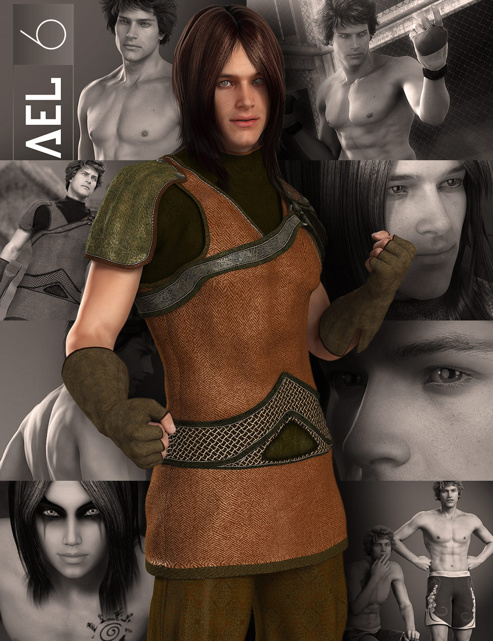 Michael 6 Starter Bundle by: , 3D Models by Daz 3D
