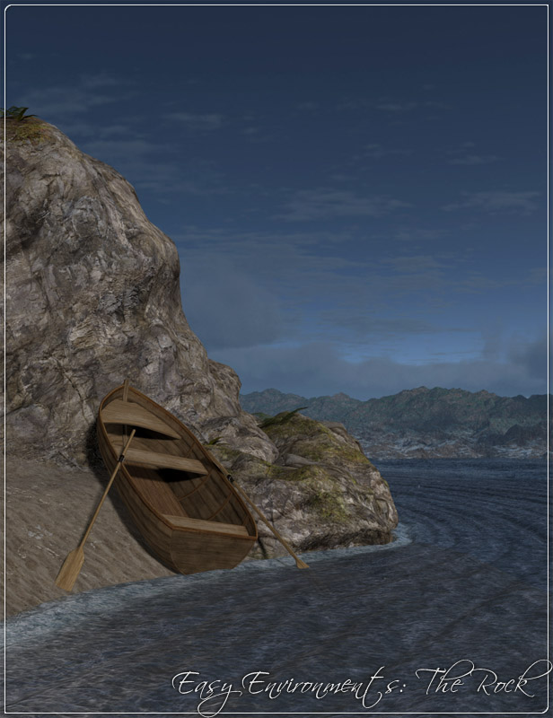 Easy Environments: The Rock by: Flipmode, 3D Models by Daz 3D