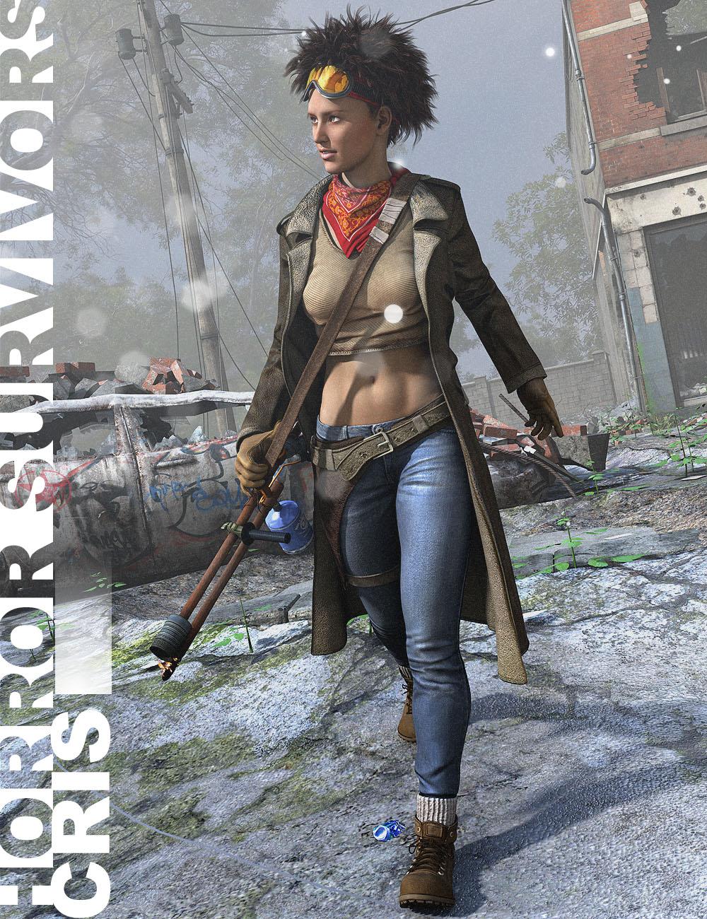 Horror Survivors - Cris for V6 by: Luthbel, 3D Models by Daz 3D