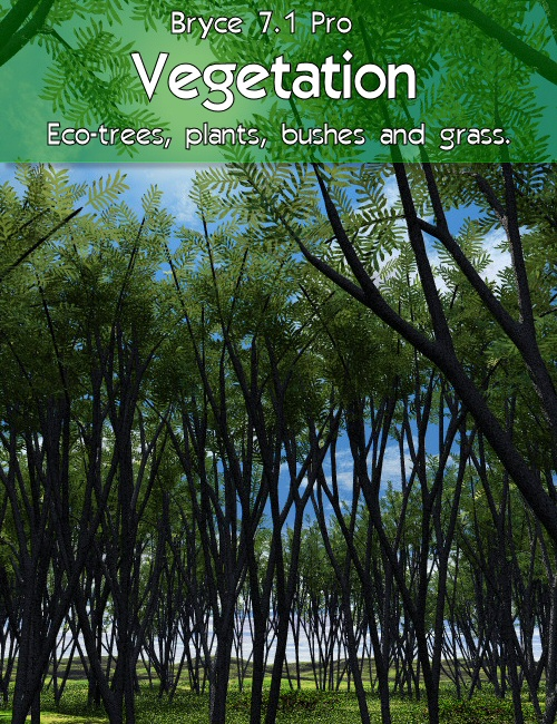 Bryce 7.1 Pro - Vegetation by: David BrinnenHoro, 3D Models by Daz 3D