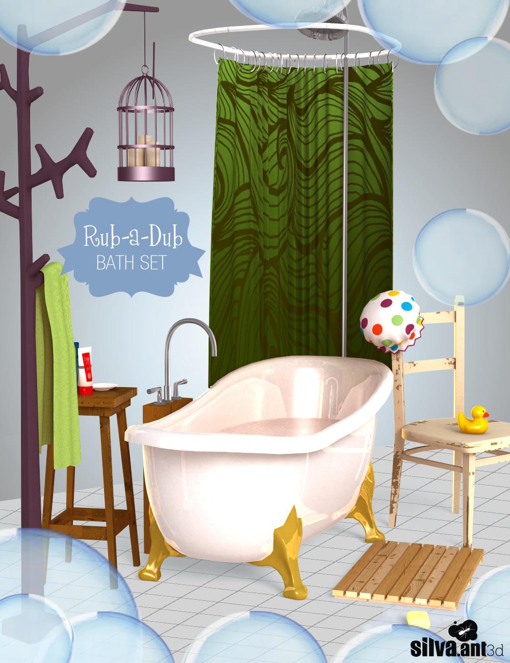 Rub-a-dub Bath Set by: SilvaAnt3d, 3D Models by Daz 3D