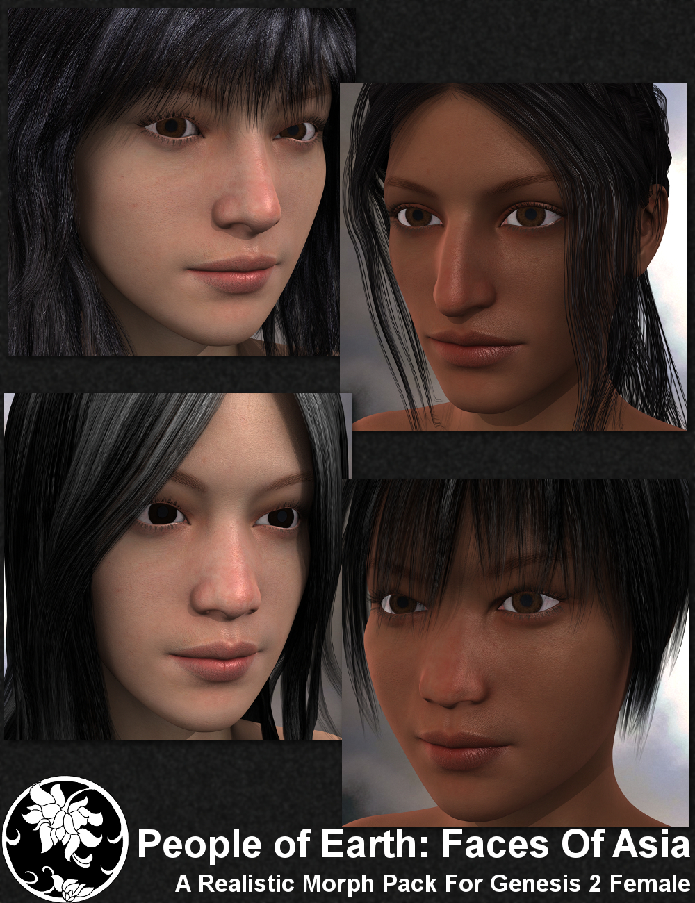 People of Earth: Faces of Asia by: Sickleyield, 3D Models by Daz 3D