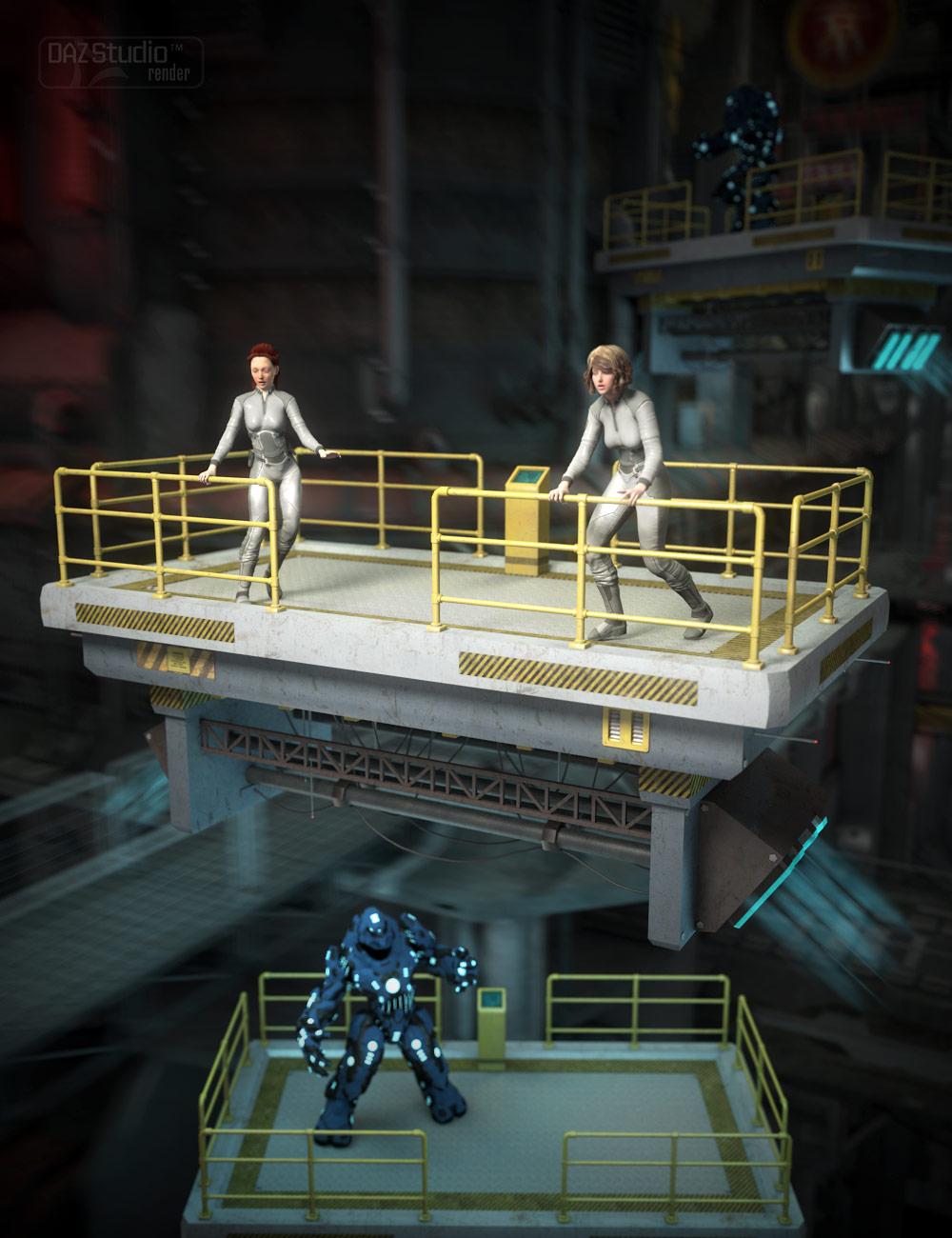 Hover Platform by: , 3D Models by Daz 3D