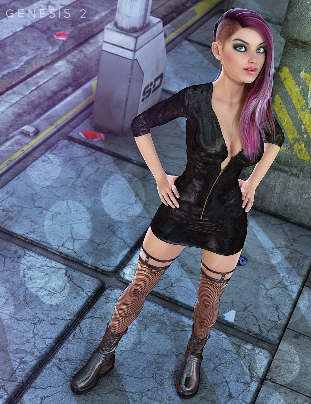TEC2 CAT for Genesis 2 Female(s) by: 4blueyes, 3D Models by Daz 3D