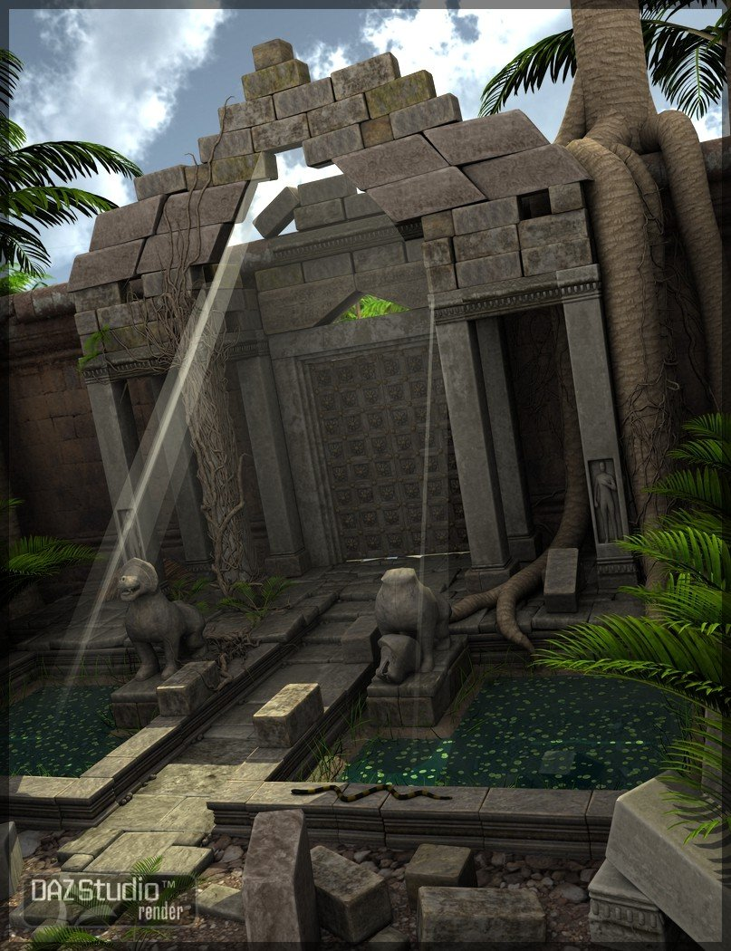 The Ruins of Angkor Wat by: Merlin Studios, 3D Models by Daz 3D
