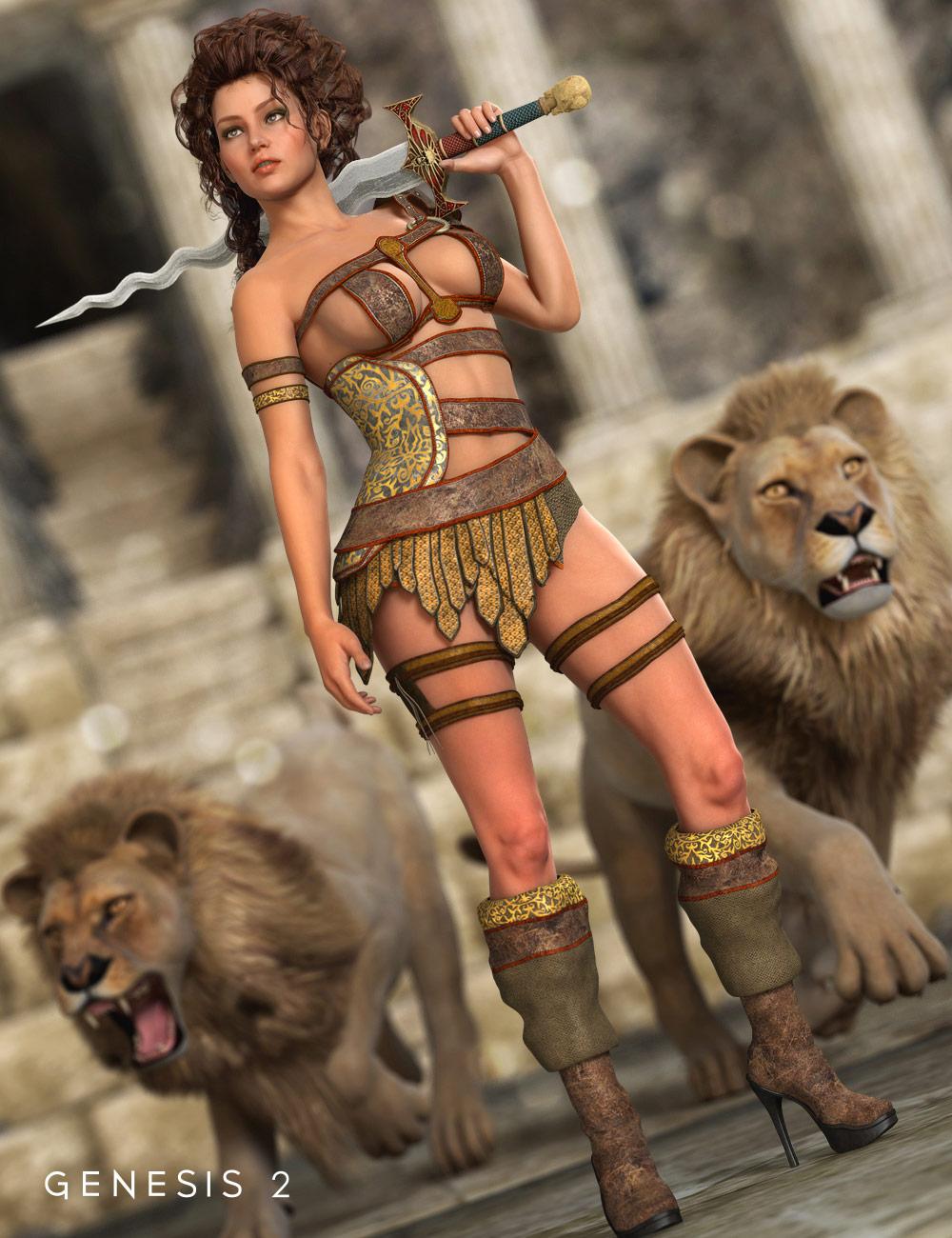 Olympian Heroine for Genesis 2 Female(s) by: Barbara BrundonSarsa, 3D Models by Daz 3D
