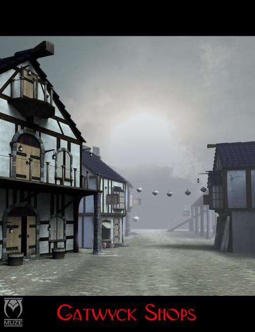 Gatwyck Shops by: Muze, 3D Models by Daz 3D