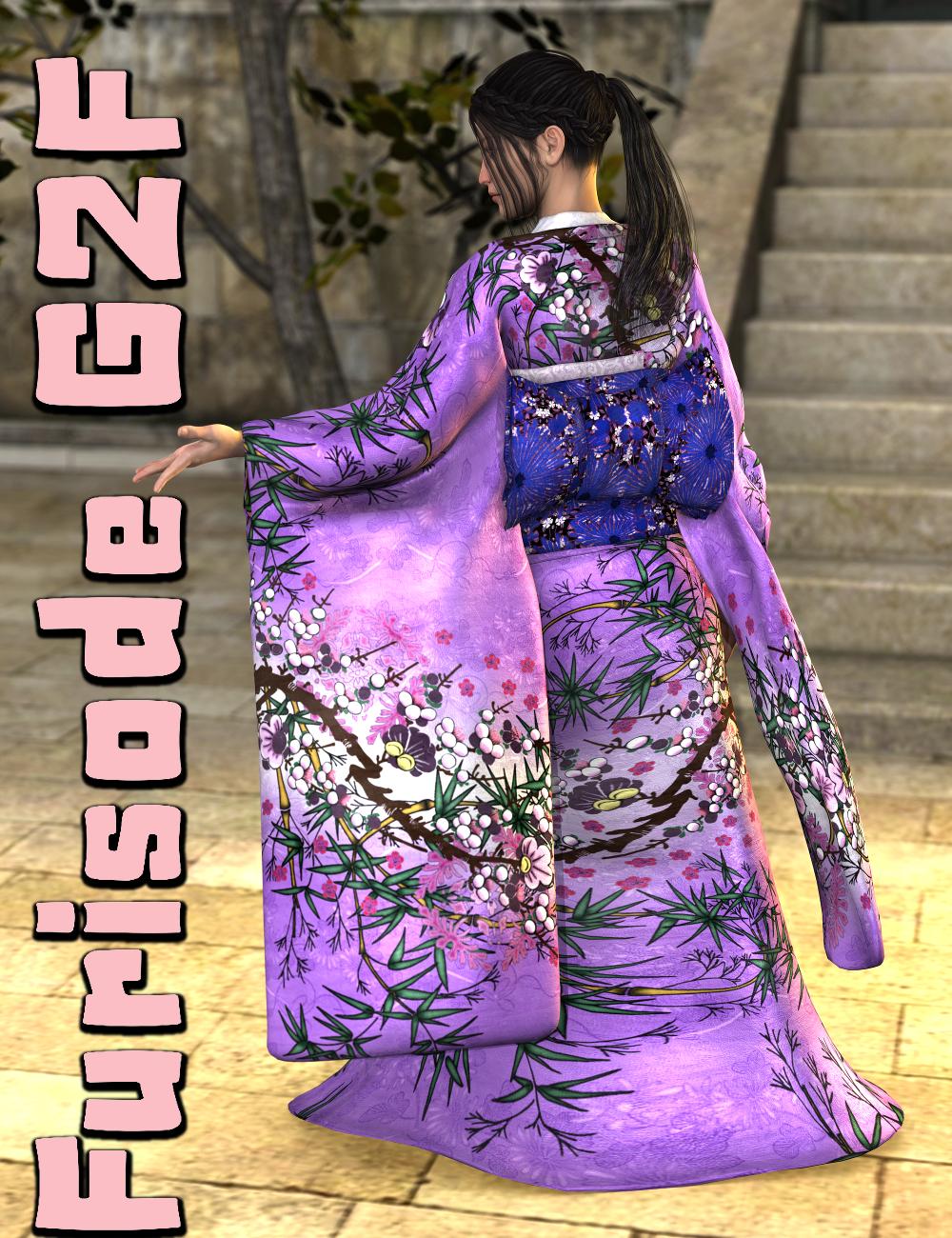 Furisode Genesis 2 Female(s) by: SickleyieldFuseling, 3D Models by Daz 3D