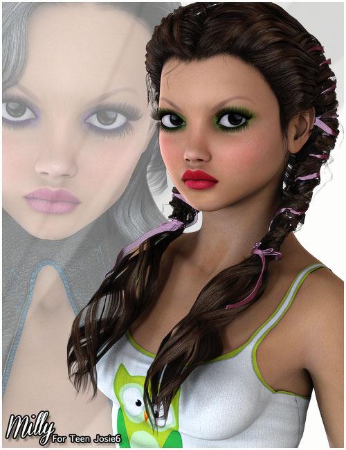 Milly for Teen Josie 6 by: Belladzines, 3D Models by Daz 3D
