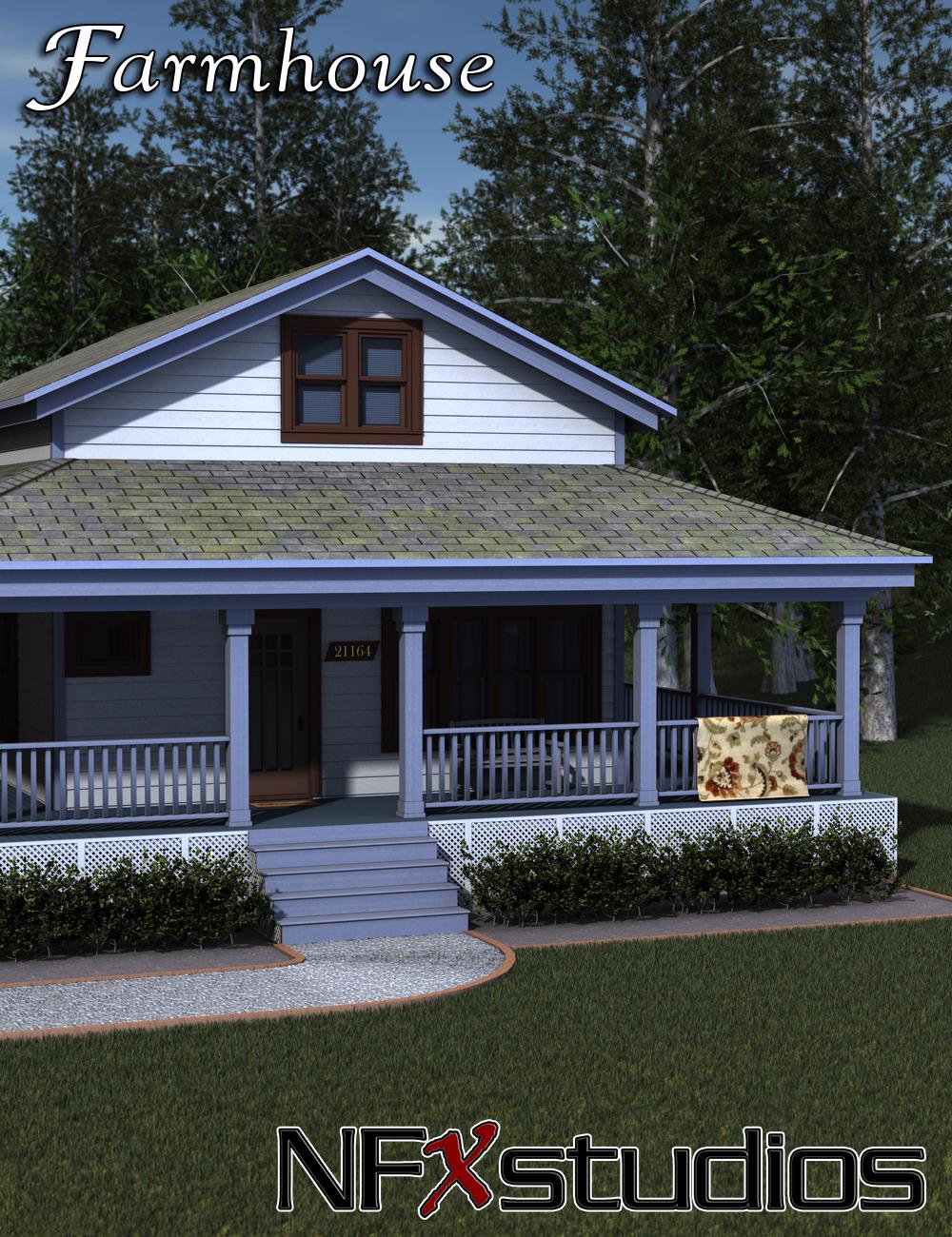 NFXstudios Farmhouse by: Collective3d, 3D Models by Daz 3D