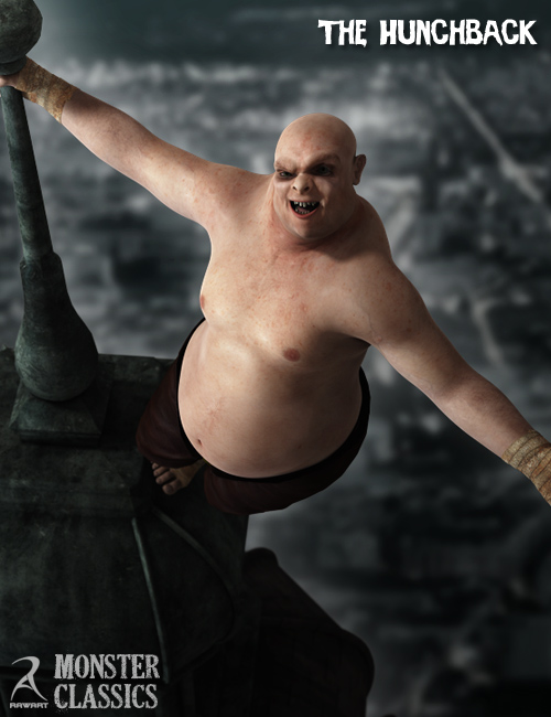 Monster Classics - The Hunchback by: RawArt, 3D Models by Daz 3D