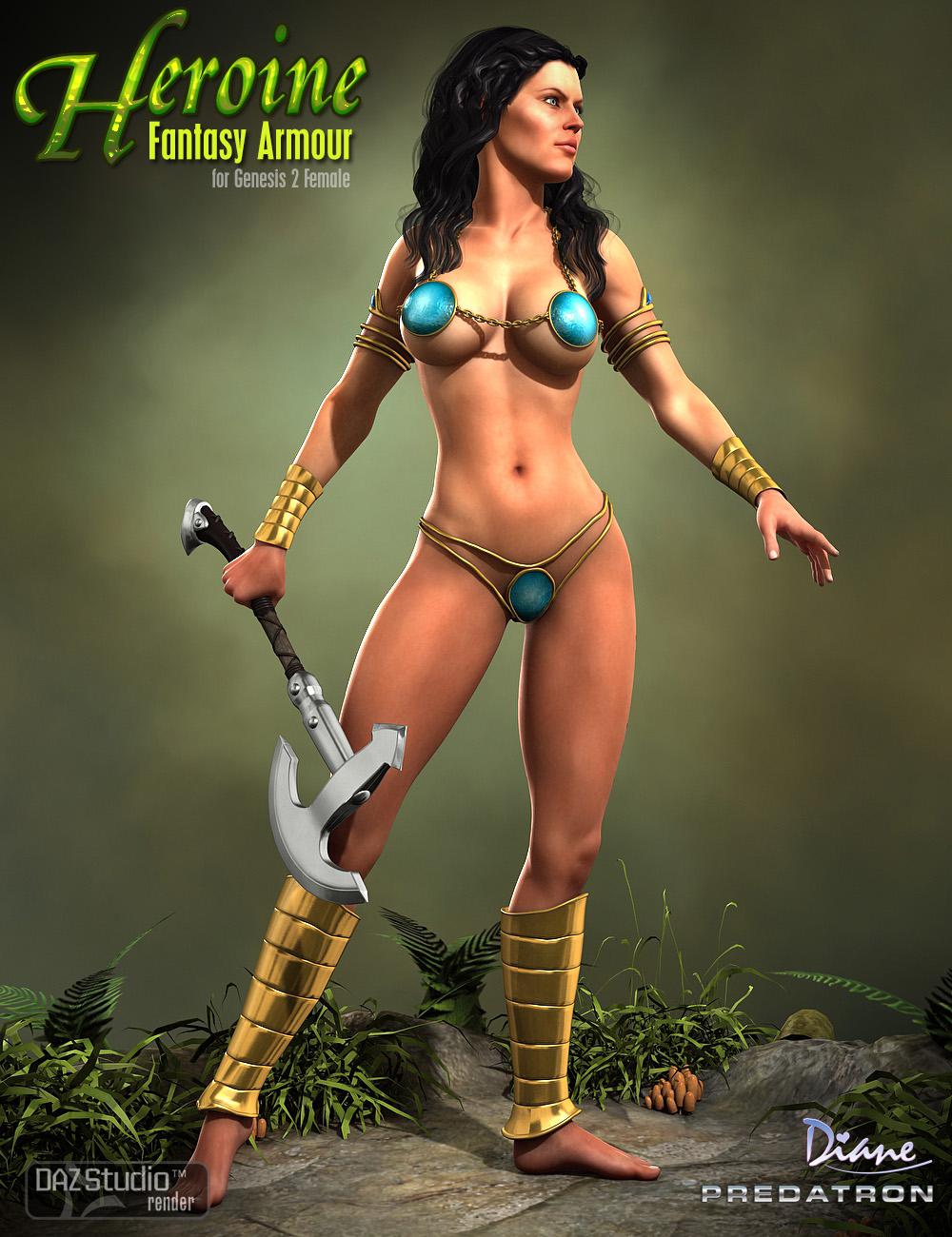 Heroine Fantasy Armour by: DianePredatron, 3D Models by Daz 3D
