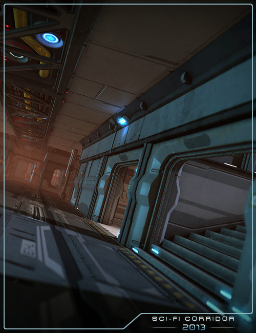Sci-Fi Corridor 2013 by: Stonemason, 3D Models by Daz 3D