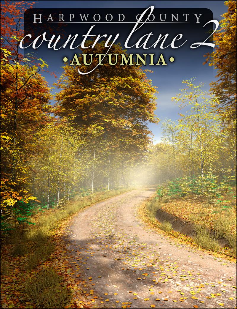 Country Lane 2 - Autumnia by: HowieFarkes, 3D Models by Daz 3D