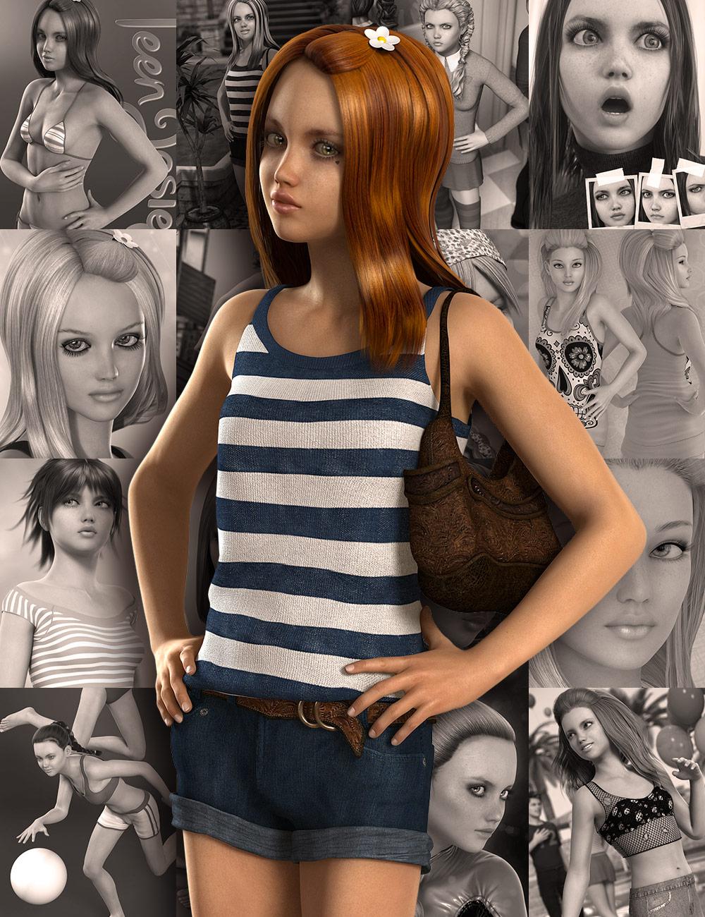 Teen Josie 6 Pro Bundle by: , 3D Models by Daz 3D