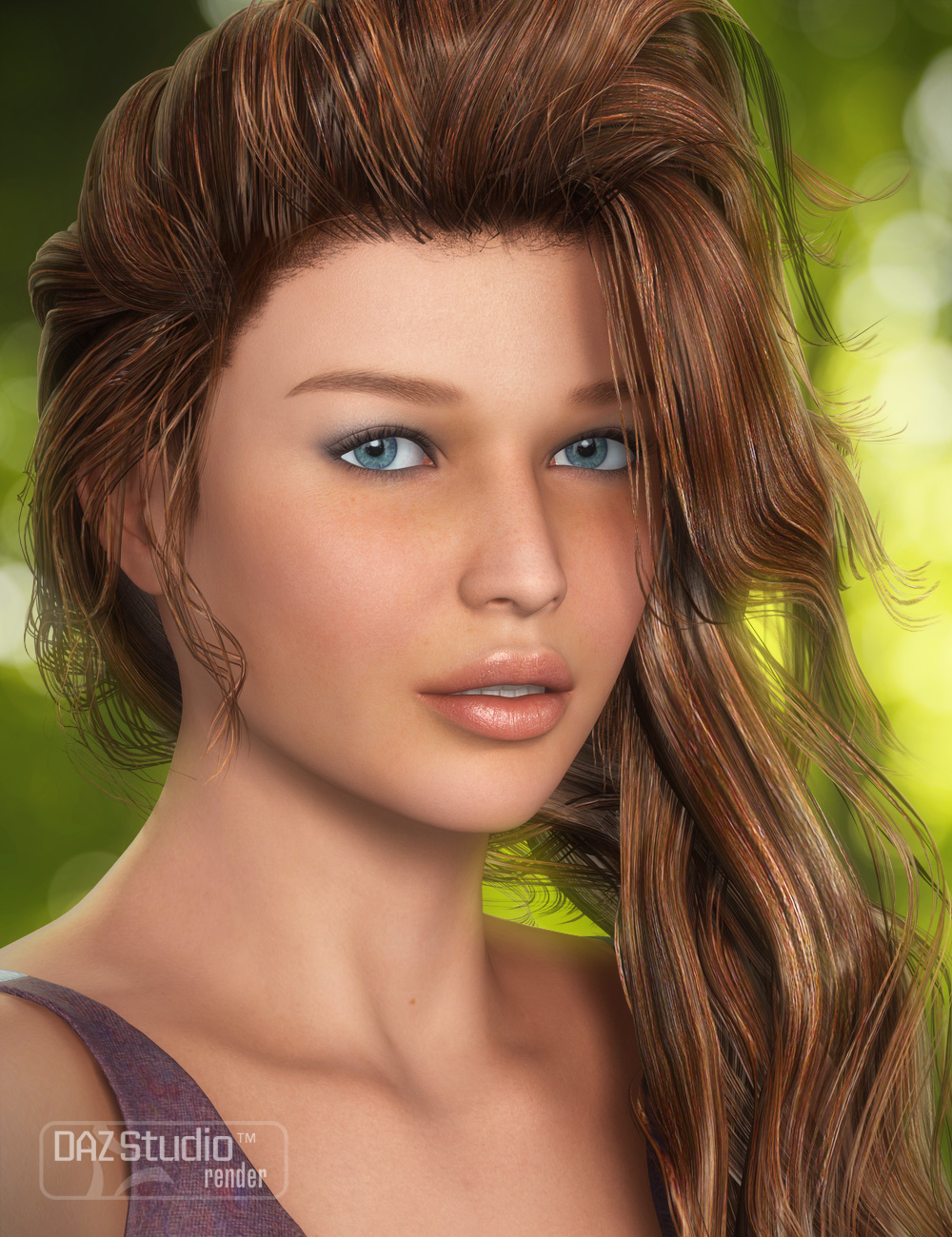 End of Summer Hair by: goldtassel, 3D Models by Daz 3D
