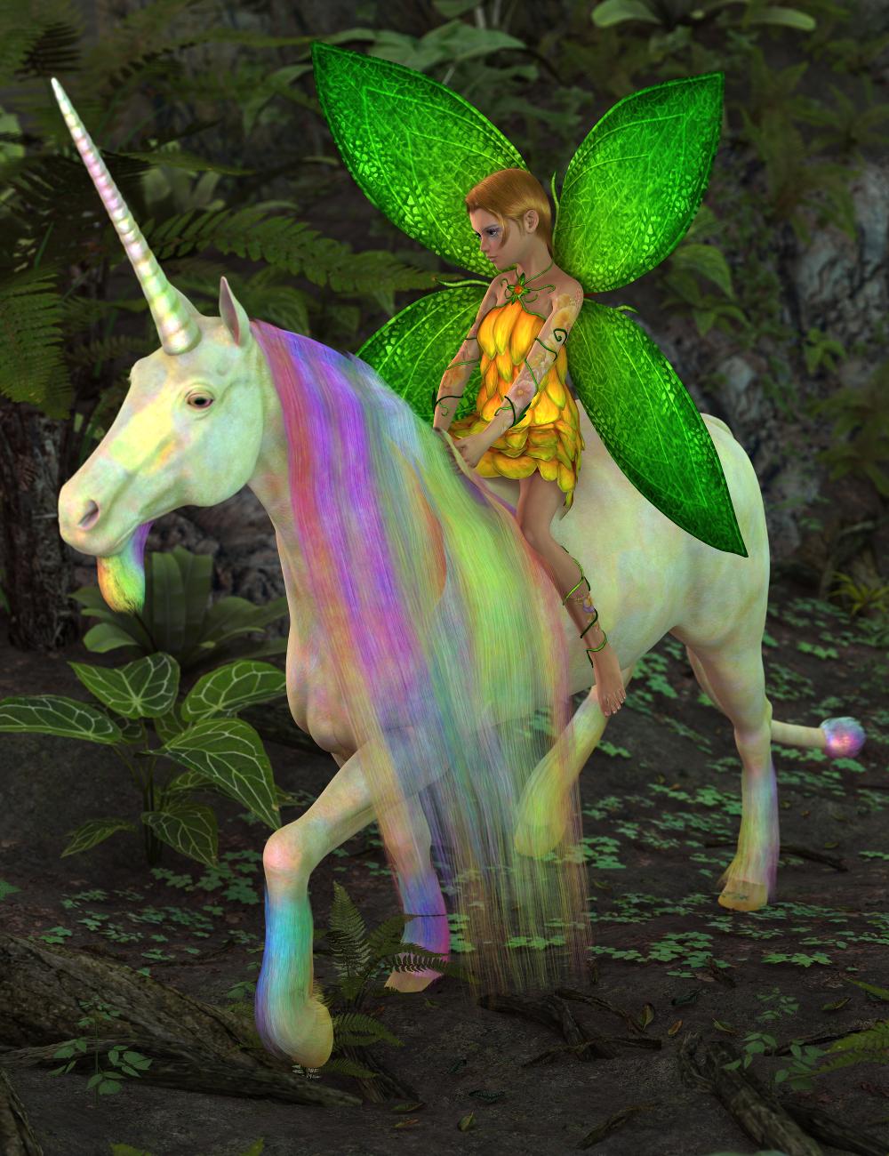 SF Unicorn for DAZ Horse 2 by: SickleyieldFuseling, 3D Models by Daz 3D