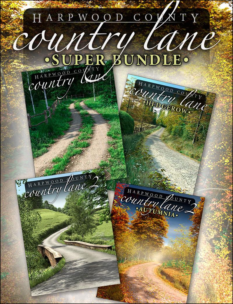 Country Lane - Super Bundle by: HowieFarkes, 3D Models by Daz 3D