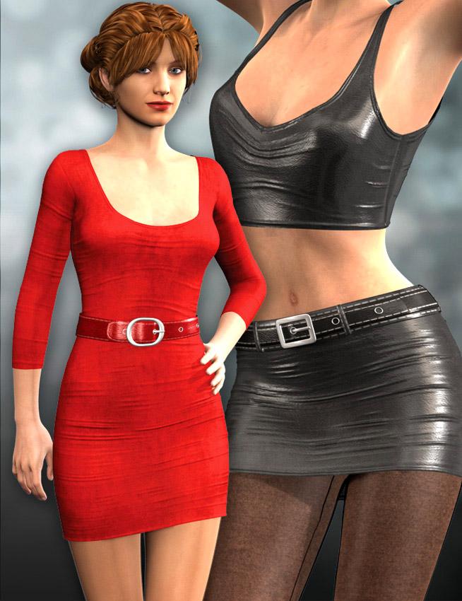 Super Dress and Leggings for Genesis 2 Female(s) by: Dogz, 3D Models by Daz 3D