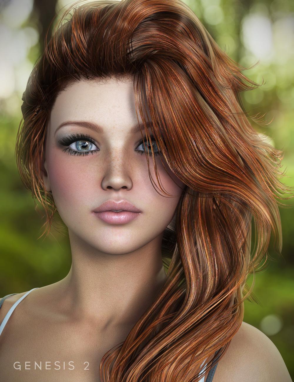 End of Summer Hair for Genesis and Genesis 2 Female(s) by: goldtassel, 3D Models by Daz 3D