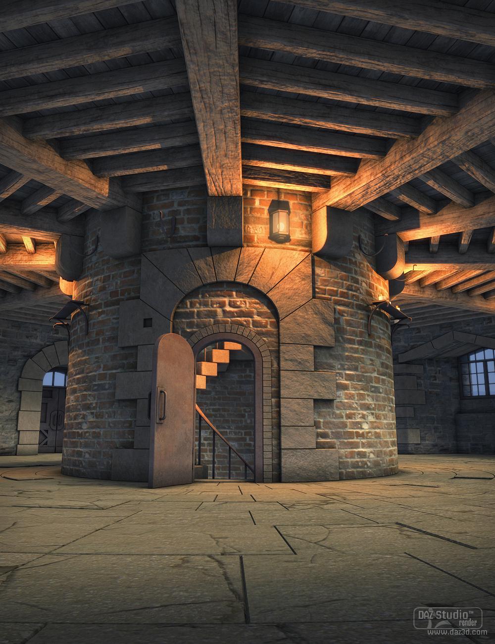 Castle Turret by: SoulessEmpathy, 3D Models by Daz 3D