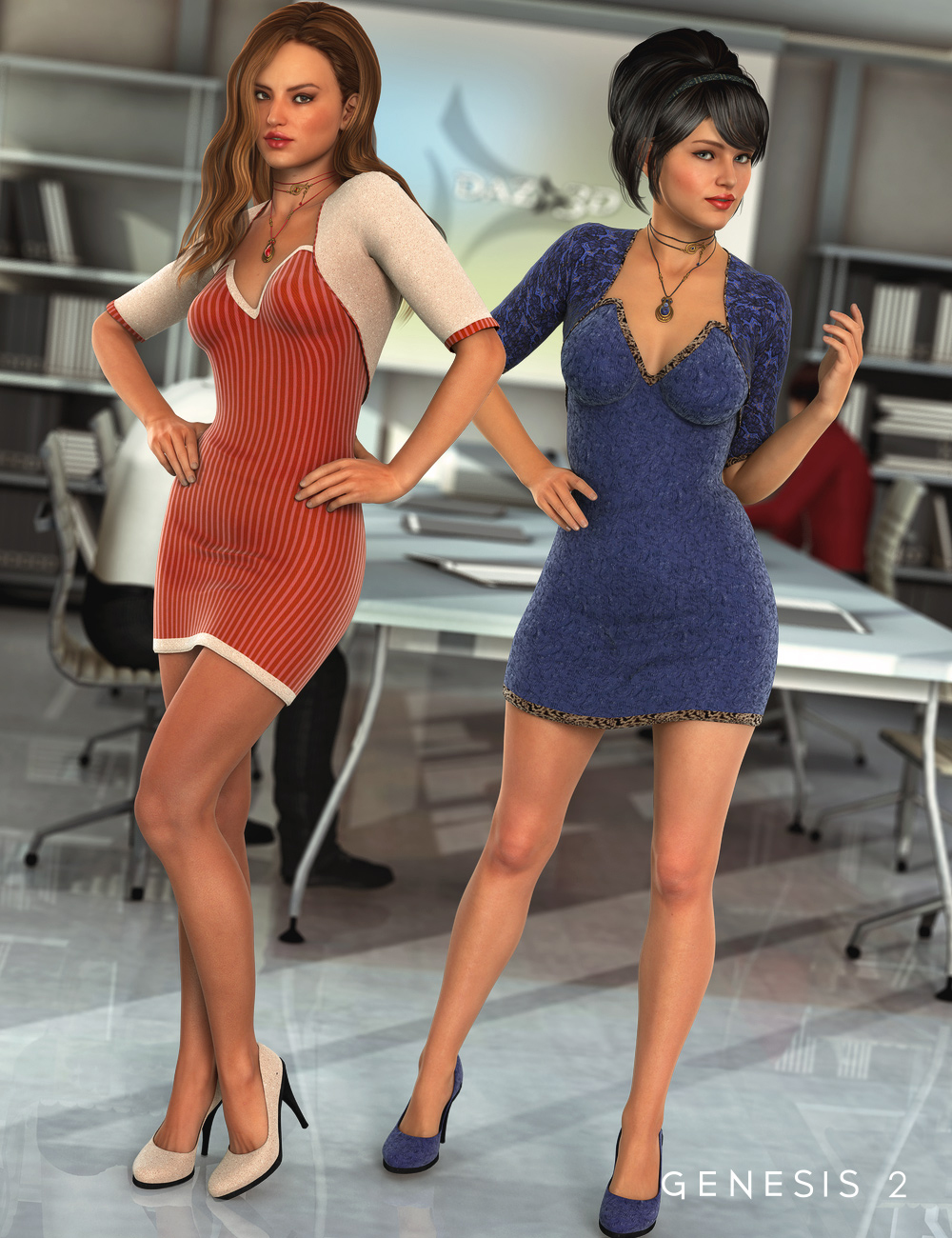 HR for Job Interview by: bucketload3d, 3D Models by Daz 3D