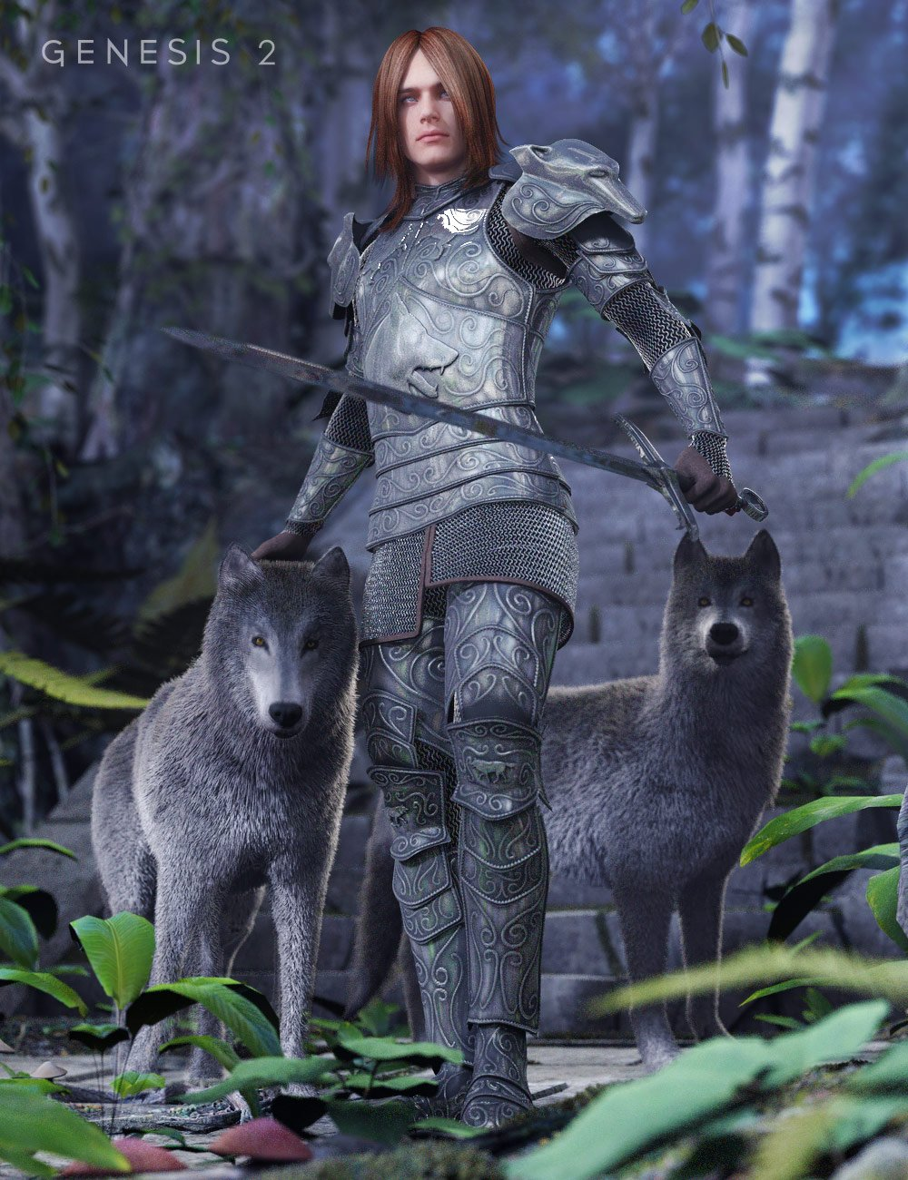 Order of the Wolf by: Valandar, 3D Models by Daz 3D