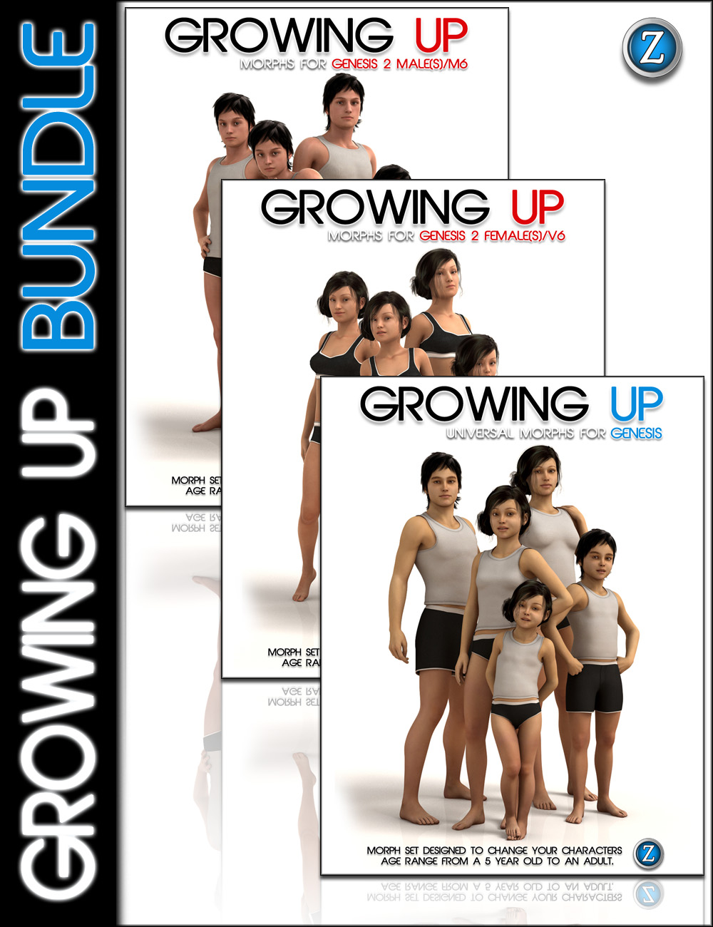 Growing Up Bundle by: Zev0, 3D Models by Daz 3D