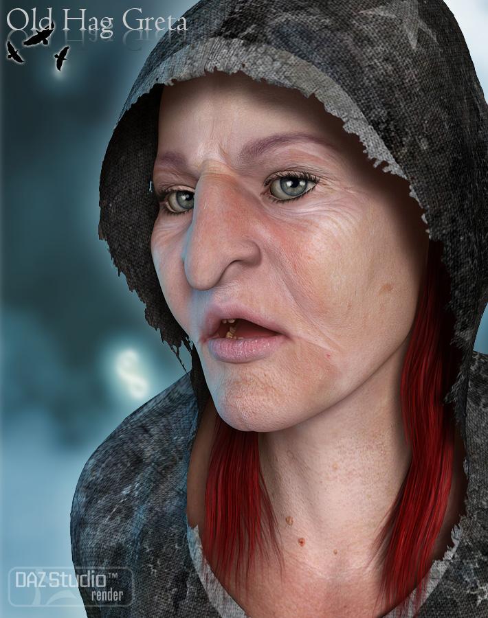 Greta the Old Hag for Genesis 2 Female by: Fred Winkler ArtForbiddenWhispers, 3D Models by Daz 3D