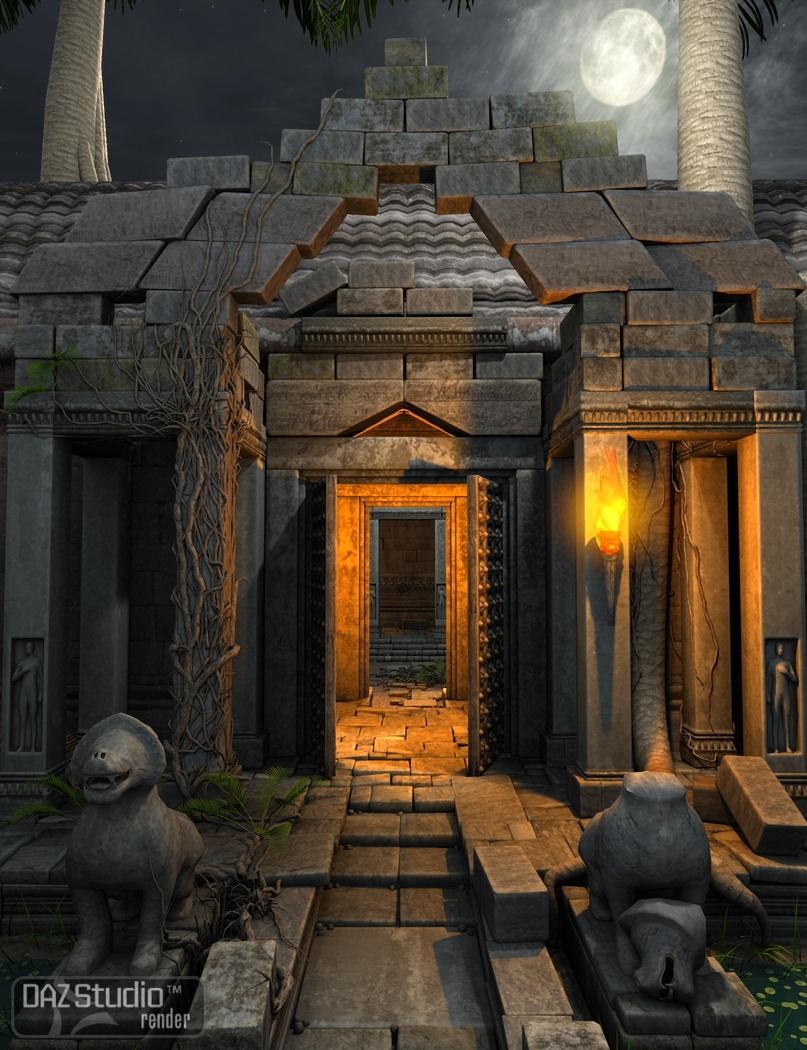 The Ruins of Angkor Wat Bundle by: Merlin Studios, 3D Models by Daz 3D