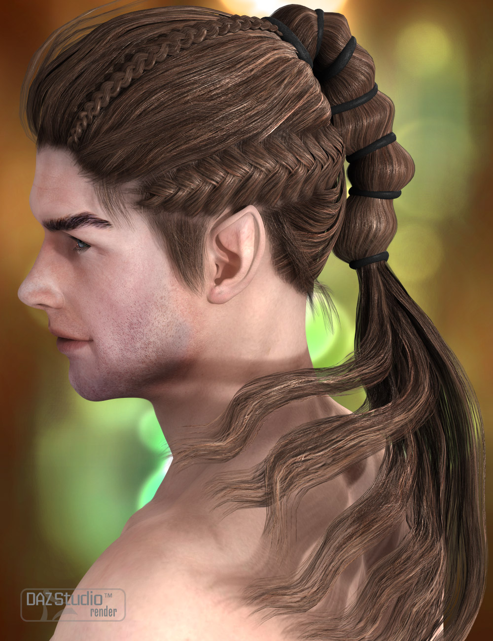 Milen Hair by: AprilYSH, 3D Models by Daz 3D