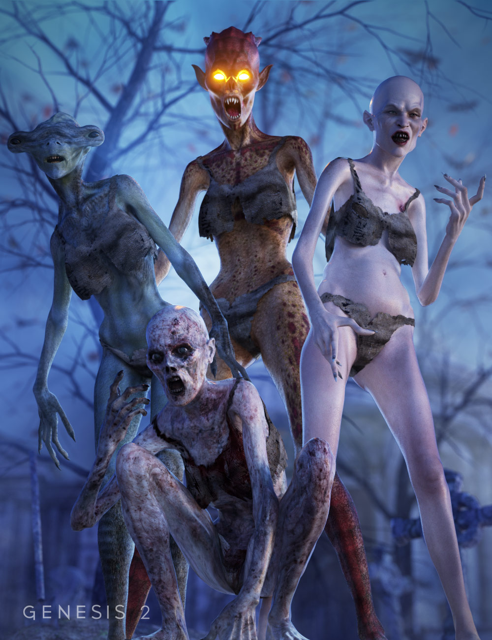Creature Creator for Genesis 2 Female(s) by: , 3D Models by Daz 3D
