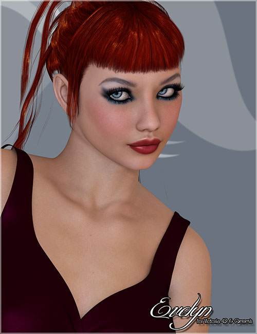 Evelyn for Victoria 4 and Genesis by: Belladzines, 3D Models by Daz 3D