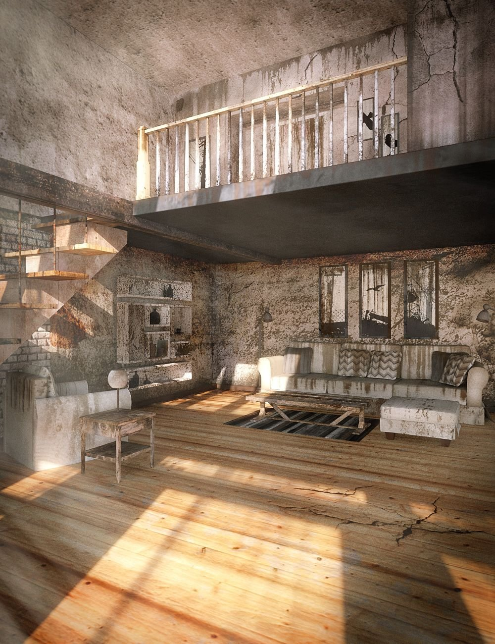 Neglected for A Bright Loft by: , 3D Models by Daz 3D