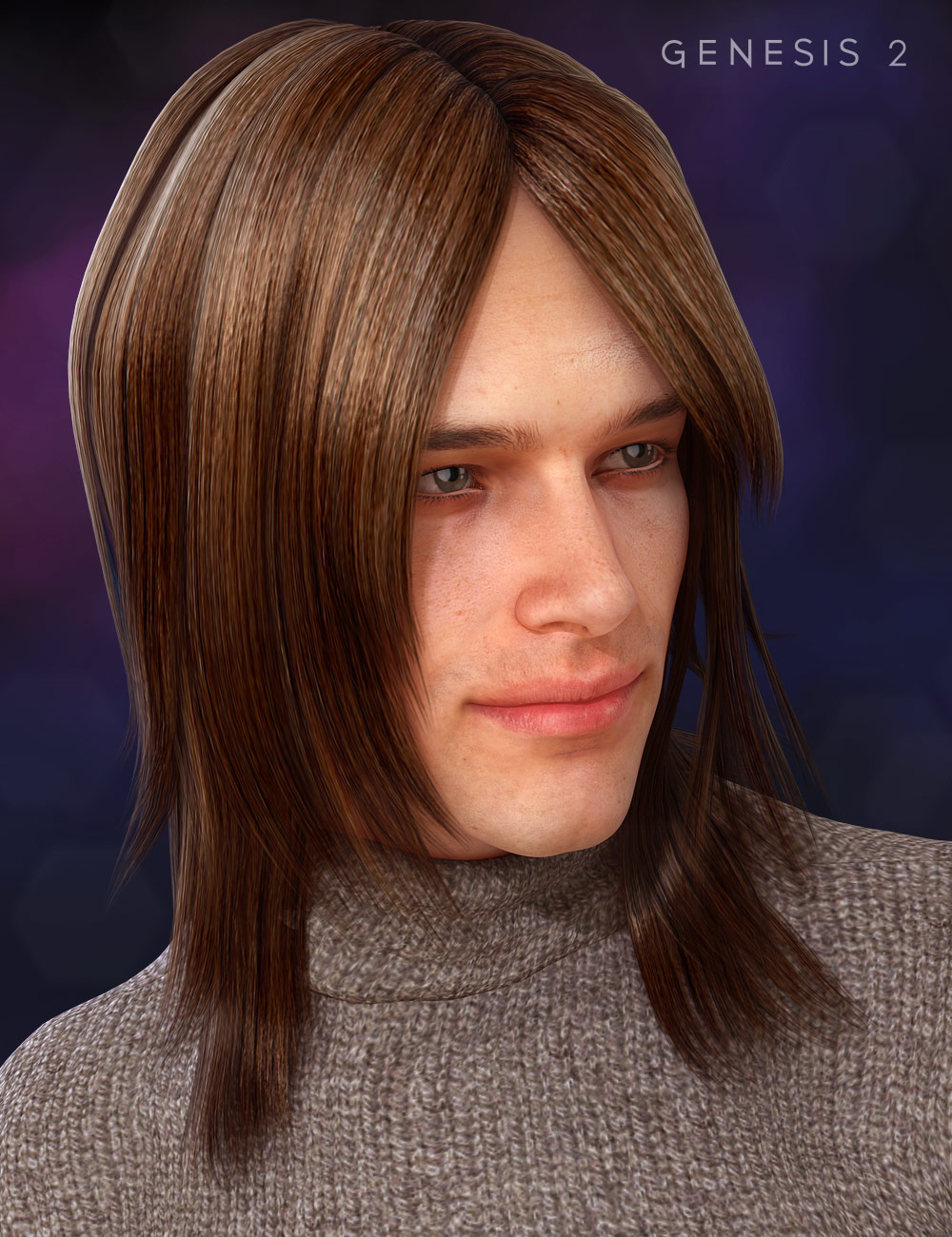 Casual Long Hair by: , 3D Models by Daz 3D