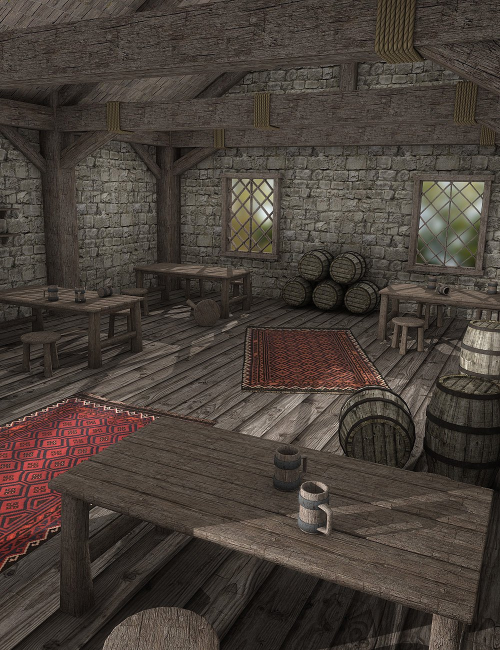 Tavern Dining Hall by: , 3D Models by Daz 3D