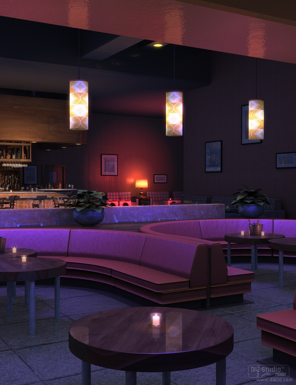 Night Lounge by: SoulessEmpathy, 3D Models by Daz 3D