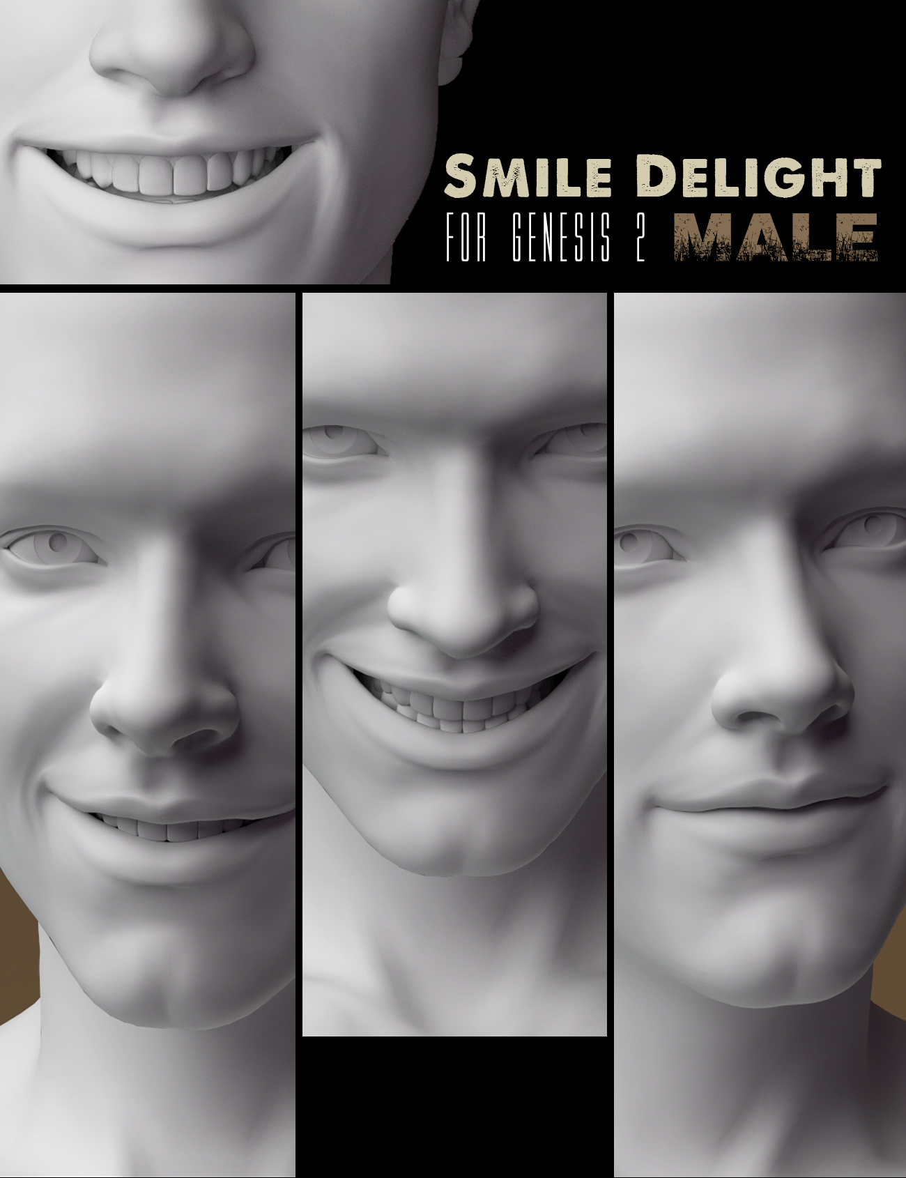 Smile Delight for Genesis 2 Male(s) by: Cake One, 3D Models by Daz 3D