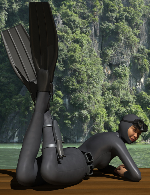 Vintage Wetsuit by: HolbeinC, 3D Models by Daz 3D