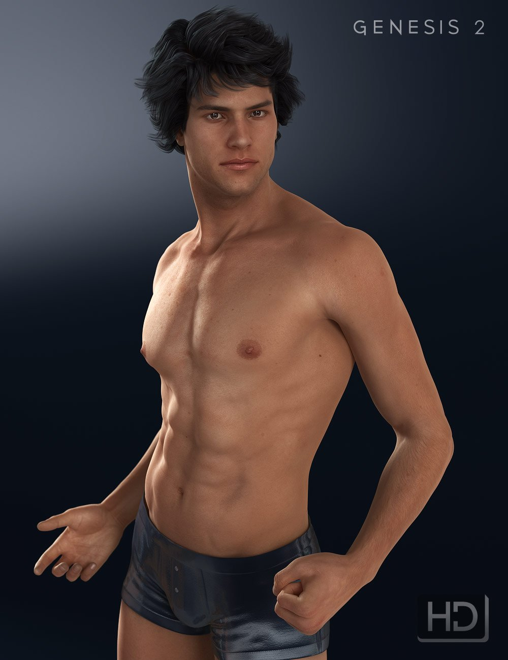 Michael 6 HD Add-On by: , 3D Models by Daz 3D
